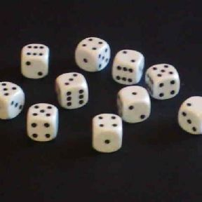 12mm Opaque Spot Dice - White